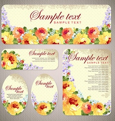 Card with yellow roses and chevron vector