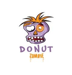 Cartoon Donut Zombie face design template vector