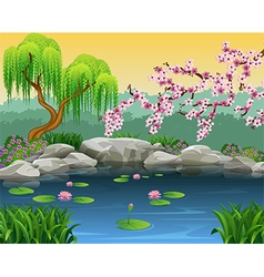 Cartoon of beautiful nature background vector