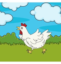 Chicken run vector image