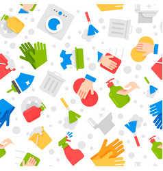 cleaning services seamless flat design pattern vector image