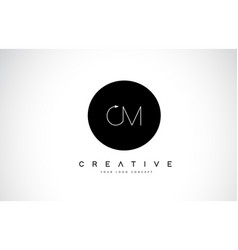 Cm c m logo design with black and white creative vector