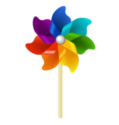 Color pinwheel vector