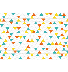 colorful abstract triangles retro paper pattern vector image