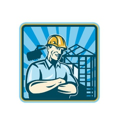 Construction engineer foreman vector