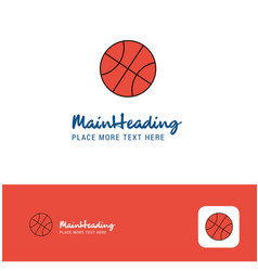 creative basket ball logo design flat color logo vector image