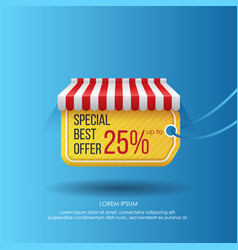 creative poster for sale promotion vector image