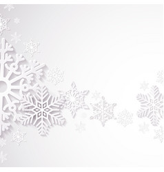 Detailed cutting paper snowflakes abstract vector