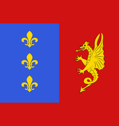 Flag of bergerac in dordogne of vector