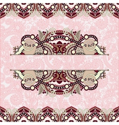 floral decorative invitation card vintage paisley vector image