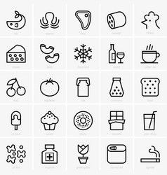food categories vector image