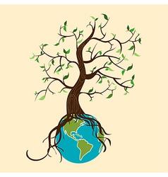Go green tree world vector