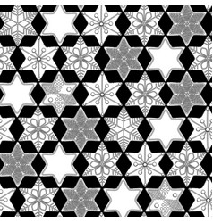 graphic gingerbread pattern vector image