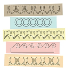 Greek motif ornaments vector image