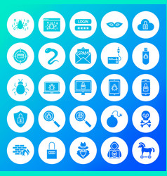 Hacker circle solid icons vector