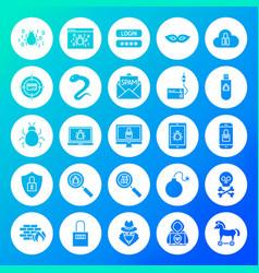 Hacker circle solid icons vector