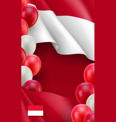 Indonesian patriotic vertical poster vector