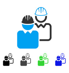 Industrial users flat icon vector