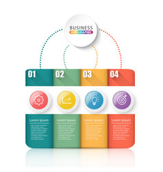 infographic element with 4 options can be used vector image