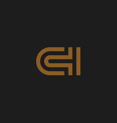 initial letters ch logo design inspiration vector image