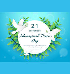 international peace day graphic element vector image