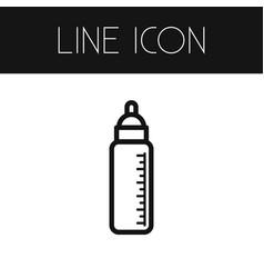 Isolated feeding outline bottle element vector