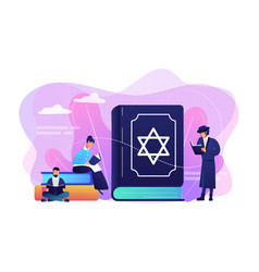 Judaism concept vector