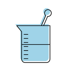 laboratory tube test icon vector image