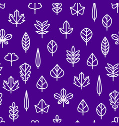 leaf signs thin line seamless pattern background vector image