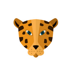 leopard head icon in flat design vector image