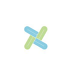 Letter x logo design template vector