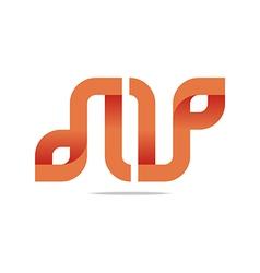 Logo Letter Infinity Alphabet Lettering N Design vector image