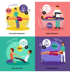 Massage Concept Icons Set vector