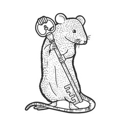 Mouse with key sketch vector
