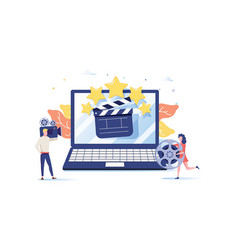 movie festival online cinema vector image