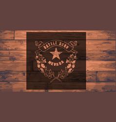 Nevada flag brand vector