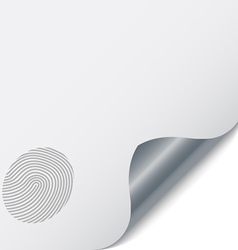 Page with a fingerprint vector