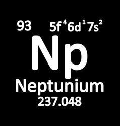 periodic table element neptunium icon vector image