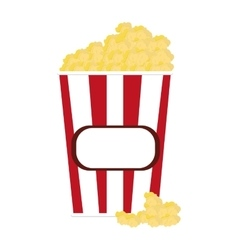 popcorn striped container icon vector image