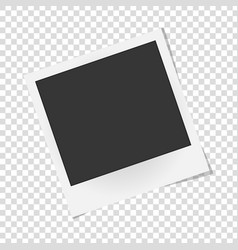 realistic photo frame isolated template retro vector image