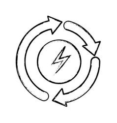 Recycle energy arrows icon vector