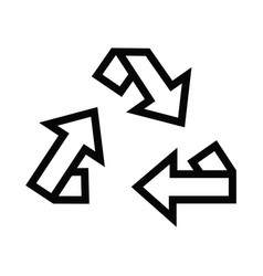 recycle symbol energy isolated icon with outline vector image