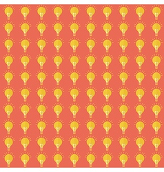 Seamless pattern with bulb flat design vector