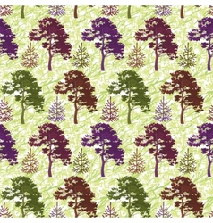 Seamless trees and abstract pattern vector image