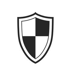 Shield icon isolated on white background vector