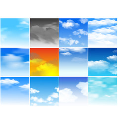 sky seamless pattern cloudy backdrop and vector image