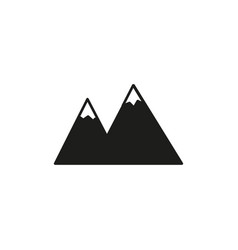 Snow mountains icon vector