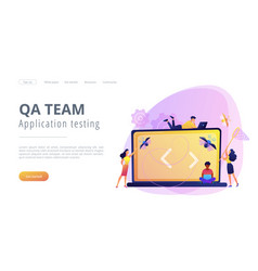 Software testing it concept vector