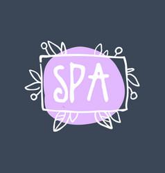 Spa logo badge for wellness yoga center health vector