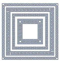 Square frame with greek ornament meander style pa vector